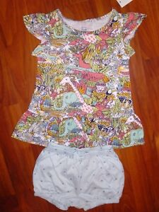 ca41d23fca48 2 3 4 T BABY GAP KIDS SAFARI Elephant Peplum Shirt Blue Bubble ...