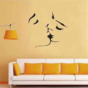Fashion-Wall-Stickers-Vinyl-Kissing-Couple-Love-Romantic-Bedroom-Wall-Decor-CF