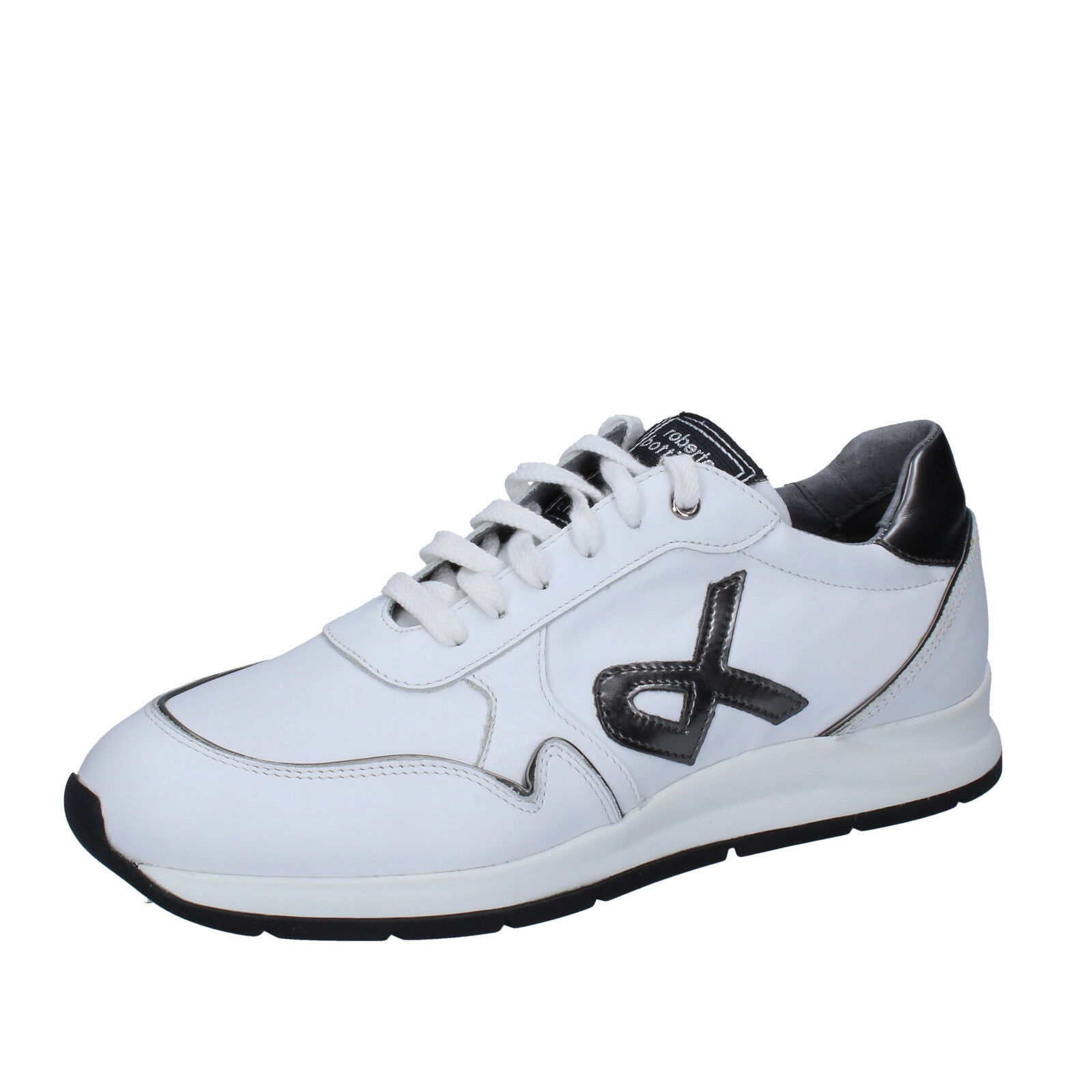Mens shoes ROBERTO BOTTICELLI 10 (EU 44) sneakers white leather BT542-44