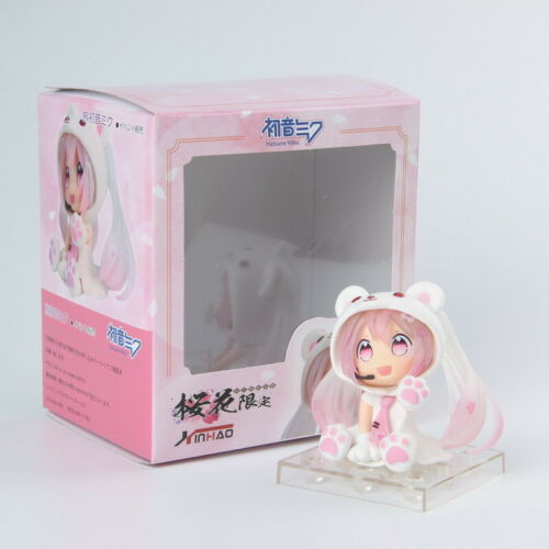 Hatsune Miku Sakura Miku PVC  Mini Cute Action Figure Nendoroid Anime Model Toy