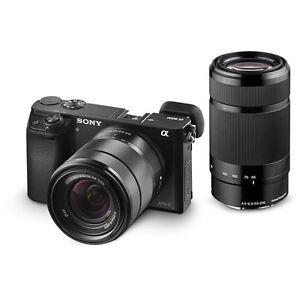 Sony A6000 Mirrorless Dslr 243 Mp Camera Body 16 50mm 55 210mm