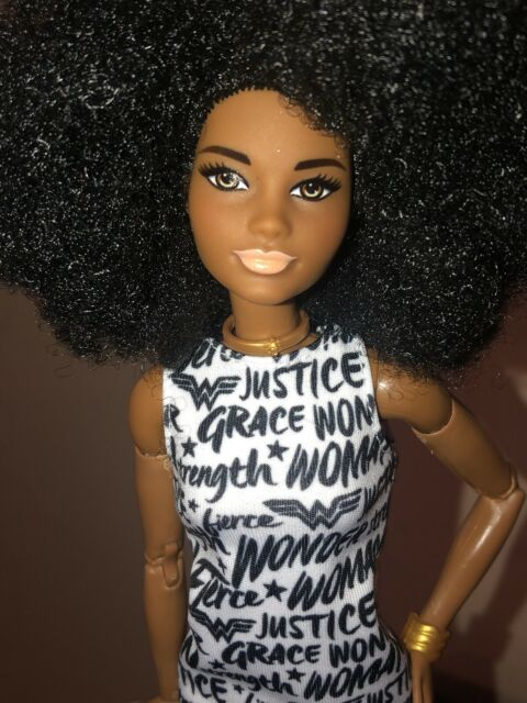 NEW! 2020 Barbie Extra Doll Curly Blue Hair Fully