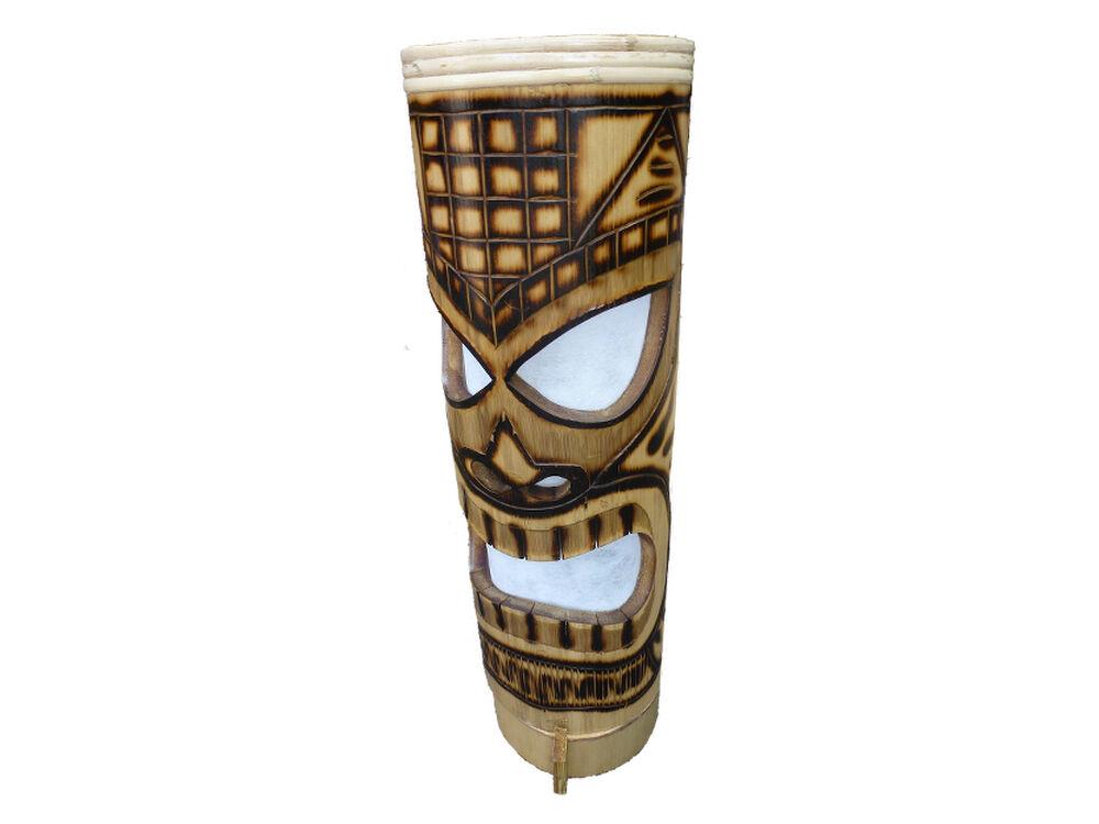 Tiki Lampe Bambus Aloha Hawaii Südsee Tischleuchte Leuchte B085