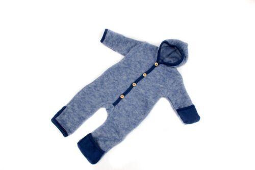Cosilana Baby-Overall blau Kratzschutz Wolle//Baumwolle Gr 62//68 74//80 Bio Öko
