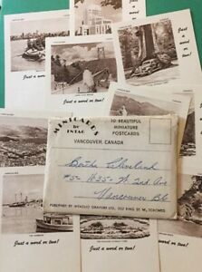 Vintage-Postcards-Mini-Cards-Pack-Of-10-Small-Vancouver-B-C-Vintage-Cards-P64