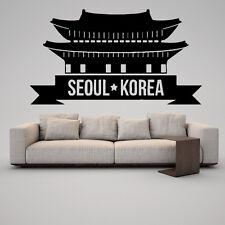 Wall Vinyl Sticker Decal Skyline Horizon Panorama City Seoul Korea Travel F1868