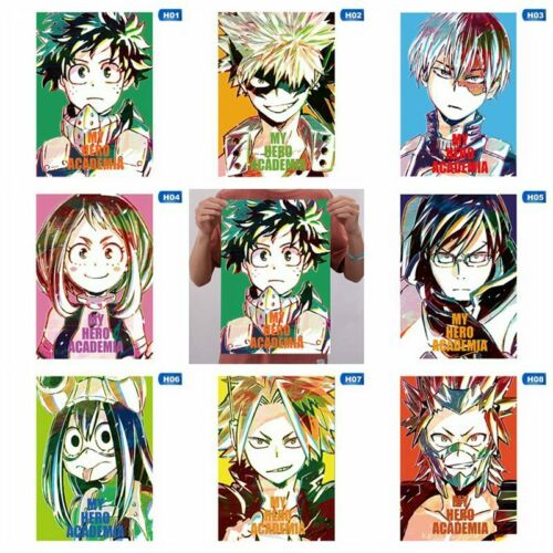 My Hero Academia Japanese Anime Art Poster Cartoon Painting Mbyss J1K9