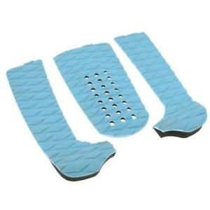 3Pcs Surfboard Shortboard Traction Tail Pads Surf Surfing Deck Grips Green