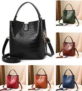 be6e8335cd4 Details about Women Designer Inspired Check Faux Leather Bucket Bag  Shoulder Tote Handbag UK