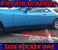 For Dodge Challenger Side Rocker One Stripes Vinyl Graphics Decals Sticker 08 21