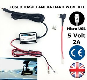 Details about Universal Dash Cam MICRO USB Hardwire lead Hard Wire on