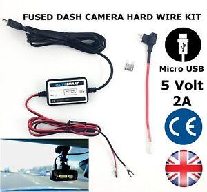 Universal-Dash-Cam-MICRO-USB-Hardwire-lead-Hard-Wire-Kit-Fits-Garmin-NOT-55