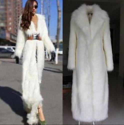 Overcoat Full Trench Long Kvinder Warm Super Frakke Fur Faux Luksus Jacket Length Yv0xAqY