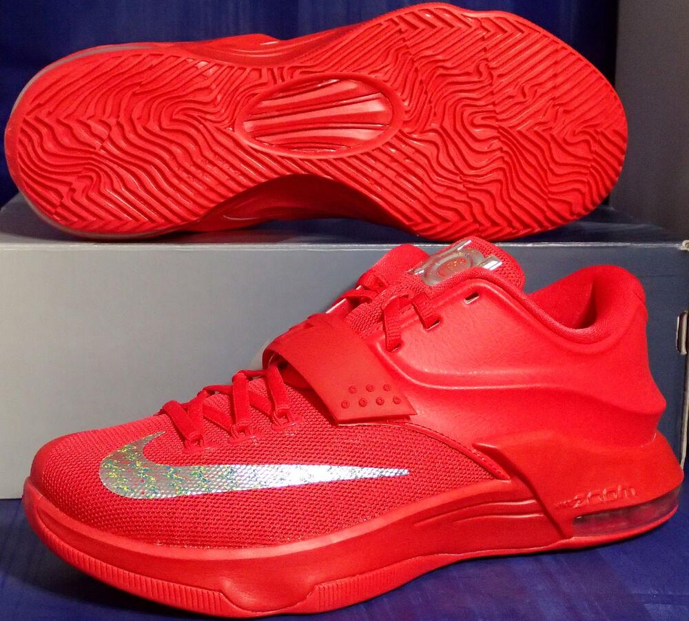 Nike Kd VII 7 Global Jeux Rouge Octobre Kevin durant Sz 12 (653996-660)