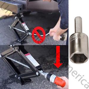 Camco Rv Leveling Scissor Jack Socket Drill Adapter 3 4 Hex Drive Accessory New Ebay