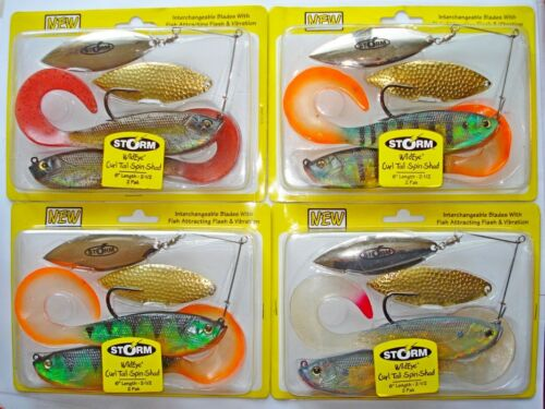 hechtkoder Spinnerbait Storm Wild Eye Live Curl Tail Spin Shad 18cm 85gr