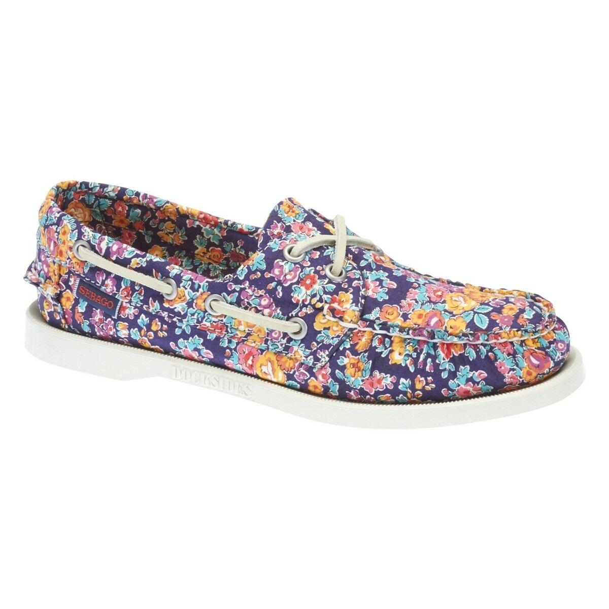 Sebago Docksides Ladies Liberty Art Fabrics shoes UK 6 EU 39 LN22 34 SALEs