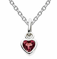 Dew Childrens Jewellery Silver Birthstone Necklace With 14 Chain-january Garnet