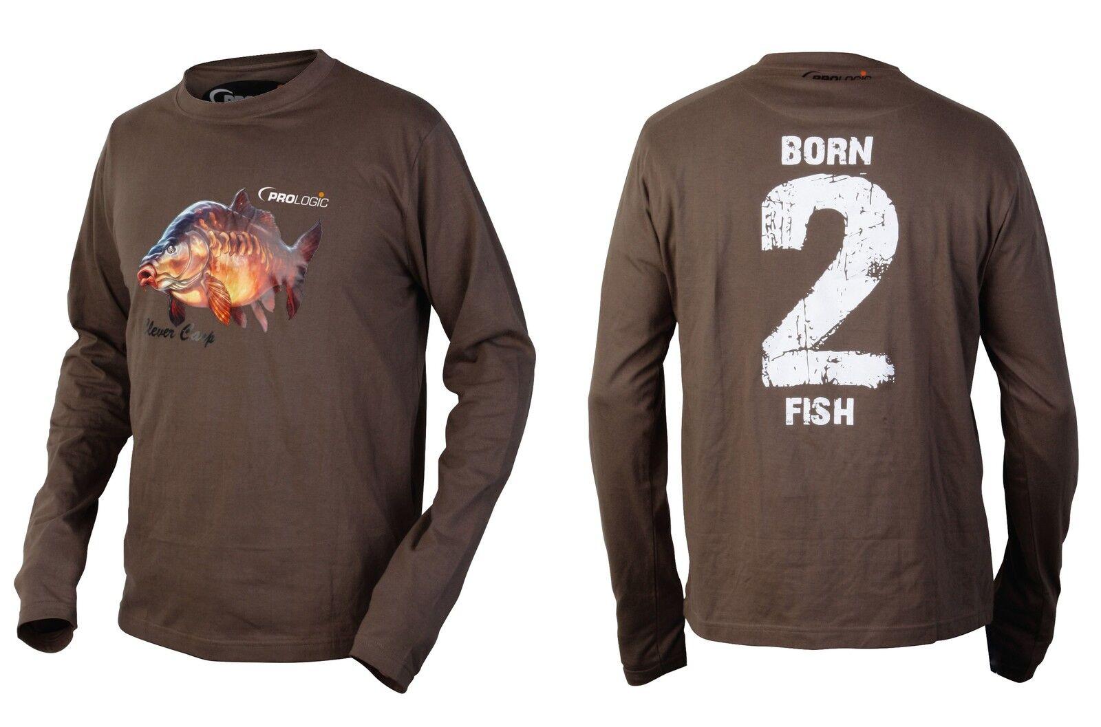 ProLogic born-2-fish Longsleeve Sleeve T-Shirt Size Optional