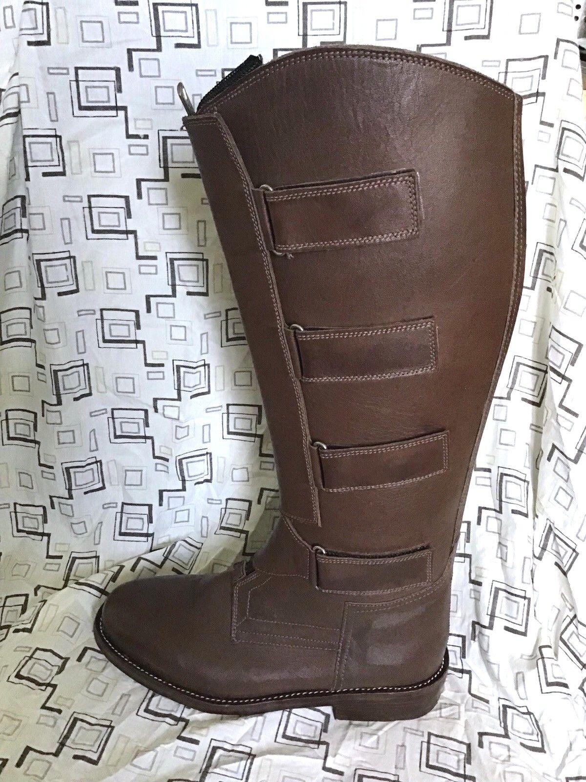 Polo Player s stövlar - Män livrar 65533;65533; s 12 - brun - Equestrian Tall stövlar - Leather