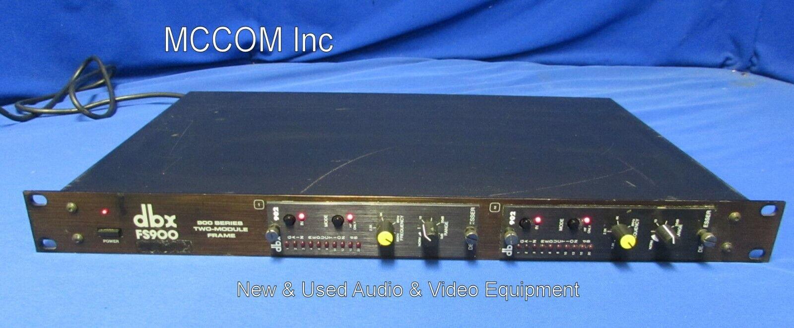 DBX FS900 900 Series 2 Module Frame w  2 DBX902 DE-ESSER Mods