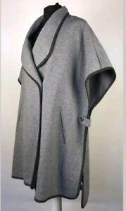 Ben De Lisi Poncho Cardigan Coat Cape Jacket From Debenhams Grey Wool Size M
