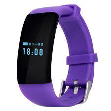 DFit D21 Heart Rate Monitor Waterproof Sports Bluetooth Smart Bracelet Purple