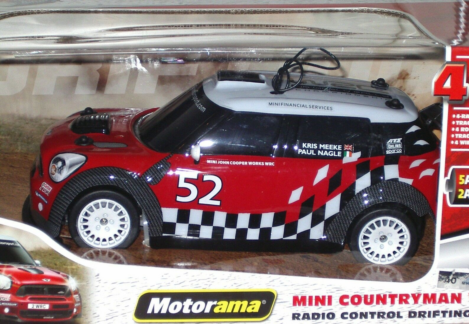 MOTORAMA MDI1292 R C MINI J.Cooper WRC Radio Control - Scala 1 16
