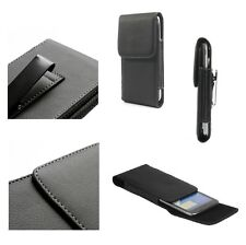 OFERTA para HTC DESIRE 820S DUAL Funda Cinturon Clip Metalico Vertical Piel S...