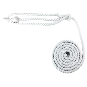 Select Your Length 10mm Optic White Natural Cotton Plain Show Rope Halter