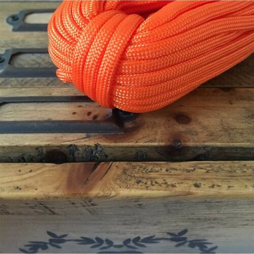 Corde cordage maison paracorde home nylon 4mm bijoux bracelet orange DIY