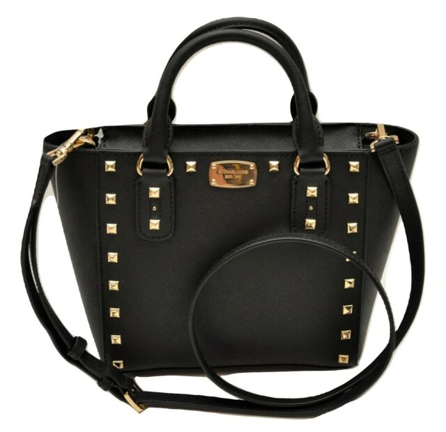 c74af387db3b Michael Kors Sandrine Stud Small Crossbody Saffiano Leather Bag ...