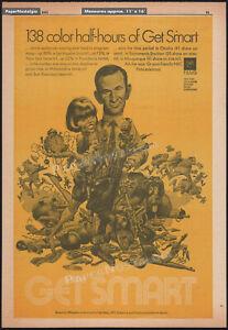 GET SMART__Original 1971 Trade AD / poster__TV series__DON ADAMS__Jack Davis art