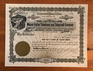 1913-MASON-VALLEY-TELEPHONE-AND-TELEGRAPH-CO-UNISSUED-STOCK-NV