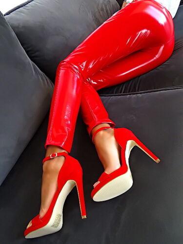 Hohe Red Pumps Luxus Rot Damen S43 Heels Elegant Neu Hot Schuhe High 36 Sandalen shtrQd