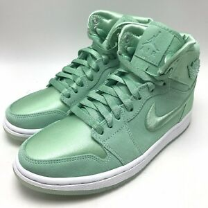 07ad357abc2aa6 Nike Air Jordan 1 Retro High SOH Women s Shoes Mint Metallic Gold ...