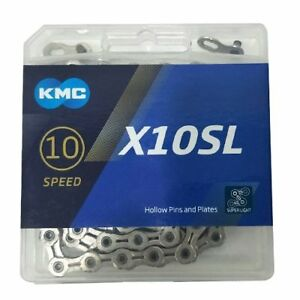 KMC X10 chain,116 link with Missing Link Silver//Red