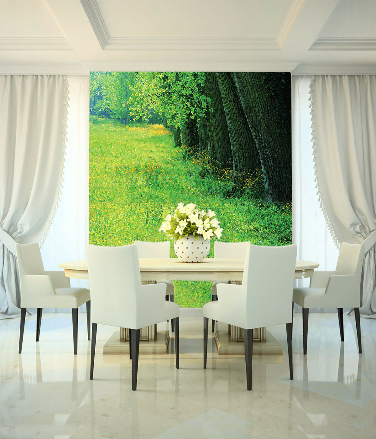 3D Lawn Tree 487 Wallpaper Murals Wall Print Wall Mural AJ WALLPAPER UK Lemon