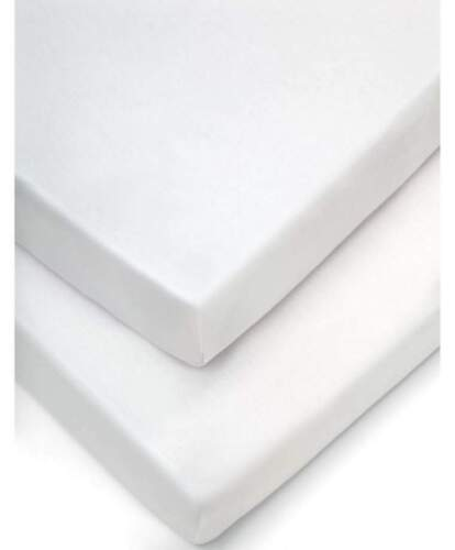 White Pram Fitted Sheets pack of 2 Mamas /& Papas