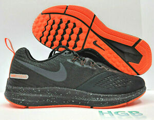 881b0a7c043c4 Nike Air Zoom Winflo 4 Shield Mens Black Reflective Running Training ...