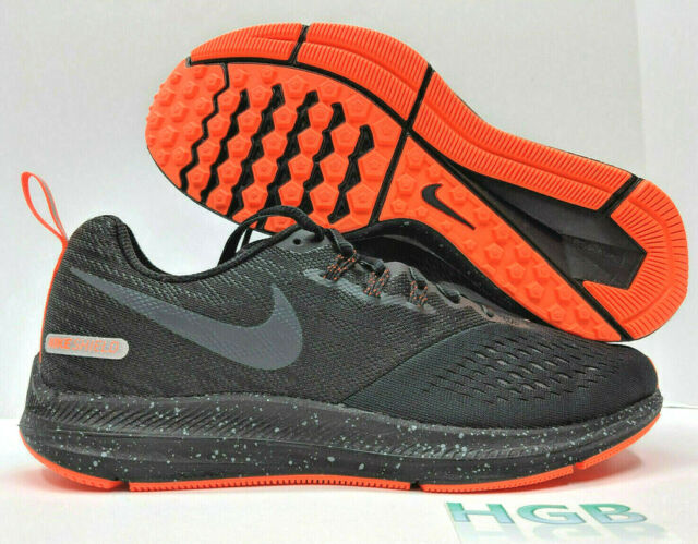 6b08a85e635a8 Nike Air Zoom Winflo 4 Shield Mens Black Reflective Running Training  921704-001
