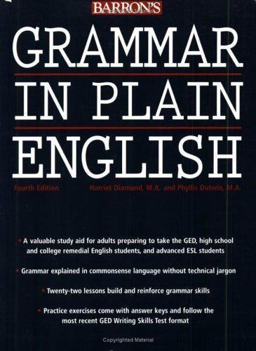 Grammar in Plain English by Diamond, Harriet, M.A.