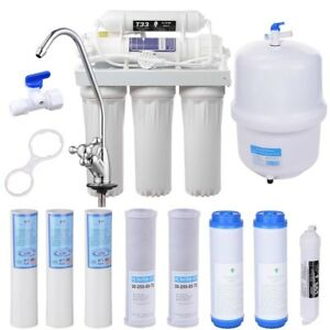 5 Stage Reverse Osmosis Drinking Water Filter RO System Home Purifier 13 FILTERS