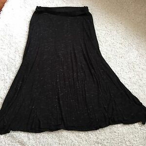 20eedc610eee7 Loveappella A Pea In The Pod Maternity Maxi Skirt M Knit Black White ...