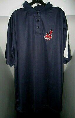 Sport Haben Sie Einen Fragenden Verstand Cleveland Indians Mlb Chief Wahoo Logo Big&tall 3-button Majestätisch Polohemd Baseball & Softball