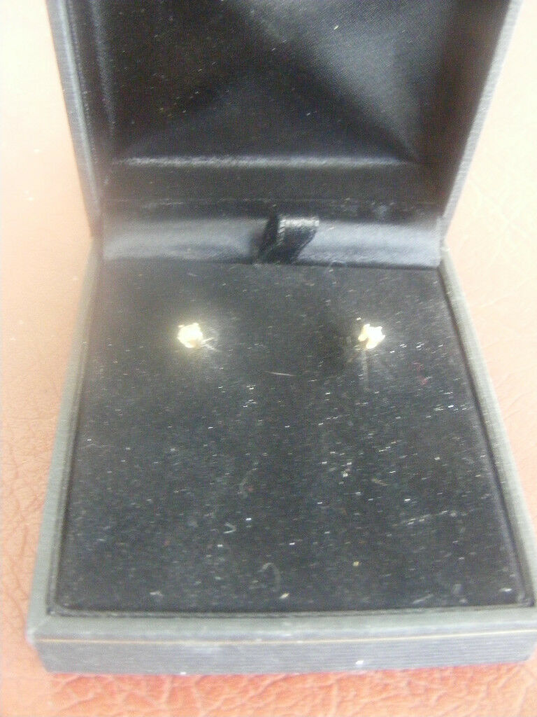 14K YELLOW gold DIAMOND STUD EARRINGS 0.25 TOTAL CARAT WEIGHT