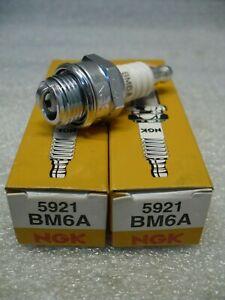 2-x-NGK-BM6A-5921-Standard-Spark-Plug