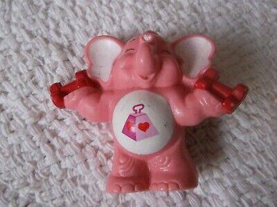 """(a) Vintage, 1984, Miniatura, Care Bear Cugino """"molte Cuore Elefante"""" 2.25"""""""" Tall-mostra Il Titolo Originale Squisita (In) Esecuzione"""