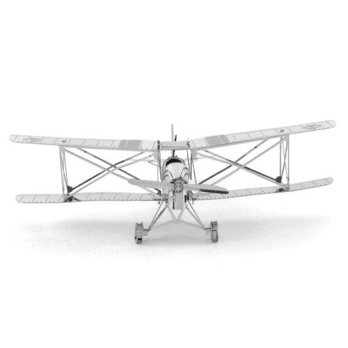 Fascinations Metal Earth 3D Laser Cut Steel Model Kit De Havilland Tiger Moth
