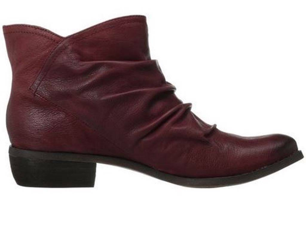 Women's Shoes Fergie MILESTONE Ankle Boots Pull On Leather Wine US 6.5